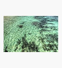 Overlooking the Turquoise Waters in Nassau, The Bahamas Photographic Print