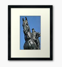 Stonewall on Horse Framed Print