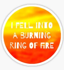 Ring of Fire Sticker