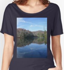 Scenic Glassy Country Lake Picture Women's Relaxed Fit T-Shirt