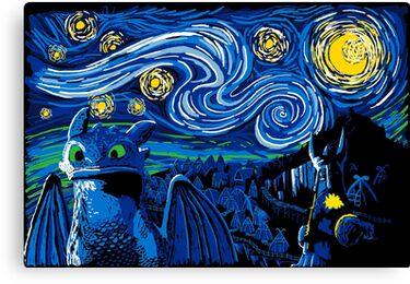 Starry Berk Canvas Print