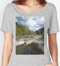 Gorgeous Rustic Appalachian River Scene Women's Relaxed Fit T-Shirt