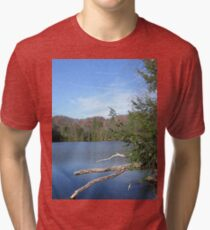 Nice & Relaxing West Virginia Mountain Lake Scene Tri-blend T-Shirt