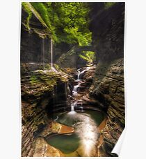 Rainbow falls of Watkins Glen Poster