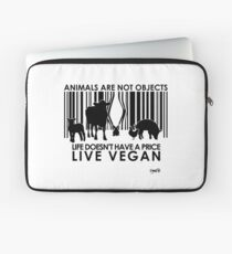 VeganChic ~ Animals Are Not Objects Laptop Sleeve