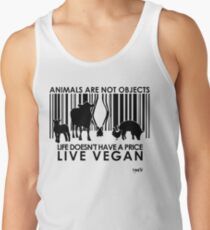 VeganChic ~ Animals Are Not Objects Tank Top