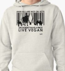 VeganChic ~ Animals Are Not Objects Pullover Hoodie