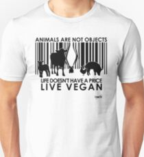 VeganChic ~ Animals Are Not Objects Unisex T-Shirt