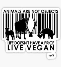 VeganChic ~ Animals Are Not Objects Sticker