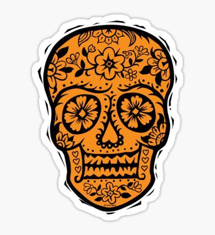 Sugar Skull SF Halloween on blk Sticker