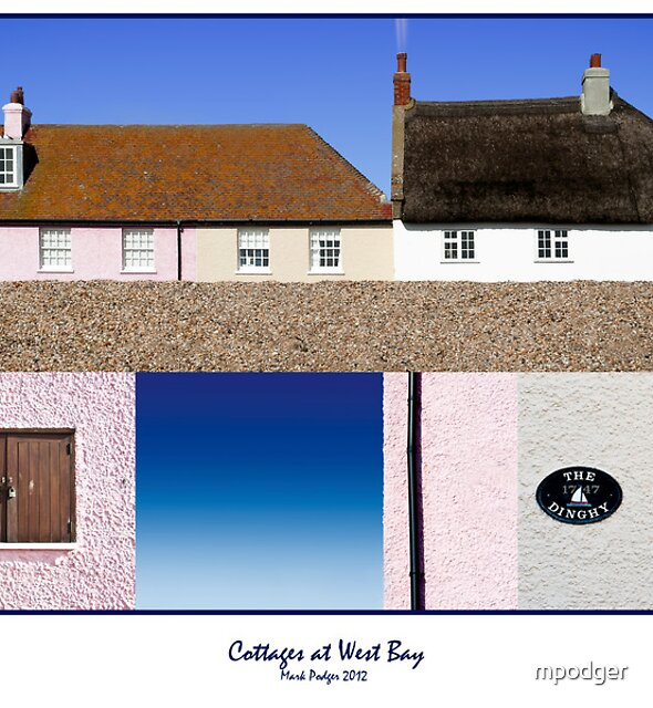 Cottages at West Bay - Collage by mpodger