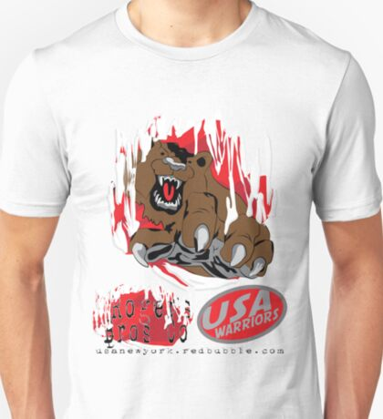 usa warriors bear by rogers bros T-Shirt
