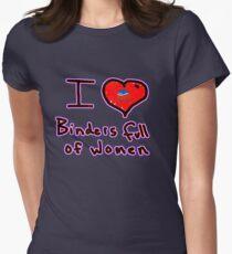 i love binders full of women Mitt Romney Women's Fitted T-Shirt