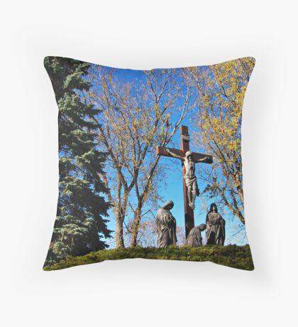 Memories of Golgotha Throw Pillow