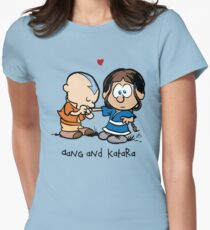 Aang & Katara (Avatar / Calvin & Hobbes) Women's Fitted T-Shirt