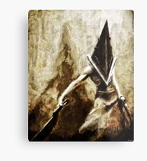 Pyramid Head Metal Print
