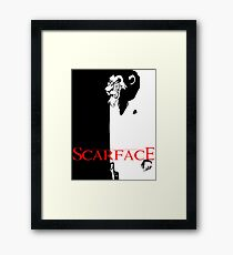 Scar Face Framed Print