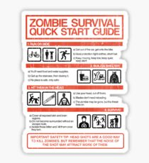 Zombie Survival - Quick Start Guide Sticker