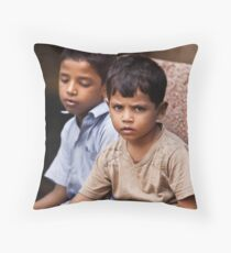 Boys In The Market Throw Pillow