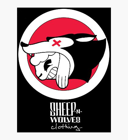 Sheep-n-Wolves Clothing Logo Photographic Print