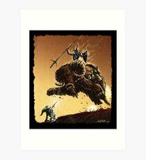 R2D2 vs Ganon Art Print
