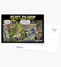 Scott Pilgrim and the Star Wars fantasy Postcards