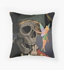 Tinkerbell and One Eyed Willy Throw Pillow
