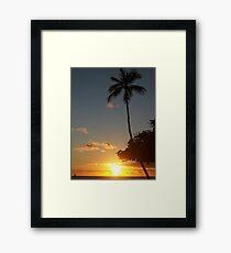 Aloha, Hawaiian Sunset,  Framed Print