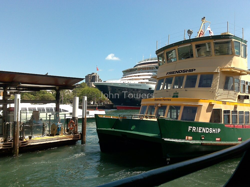 Sydney Ferry at Circular Quay by John Towers
