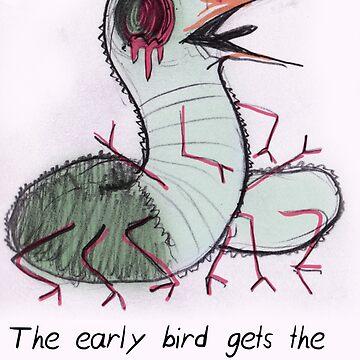 MBTI GHOSTS AND GHOULS- ENTJ BIRD WORM by samsketchbook