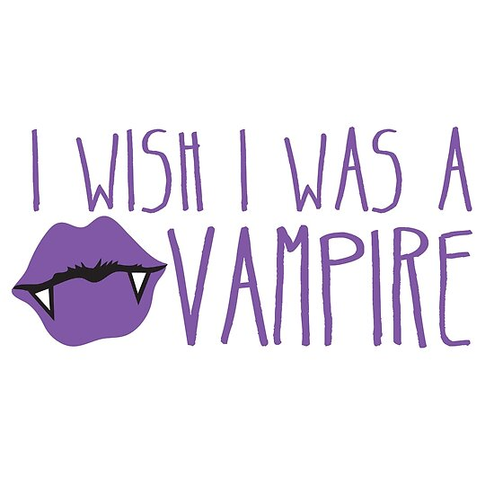 I wish I was a VAMPIRE! with cute kissing pouty lips teeth von jazzydevil