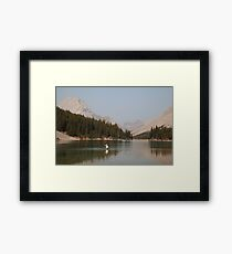 Elbow lake fishing II Framed Print