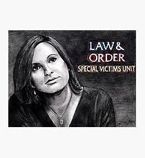 Olivia Benson Law and Order SVU Photographic Print