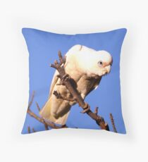 Short Billed Corella Throw Pillow