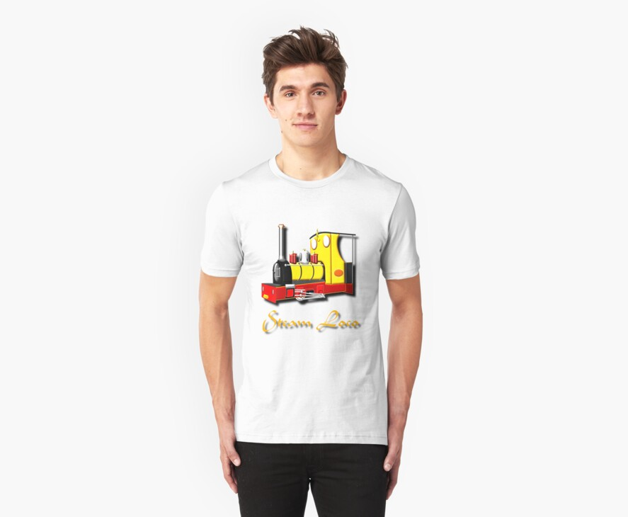 Jack the Hunslet Steam Loco 1898 retro T-shirt by Dennis Melling