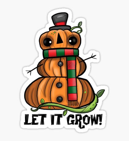 Creepies - Let it grow! Pumpkin Man Sticker