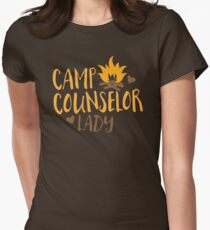 Camp Counselor Lady Womens Fitted T-Shirt