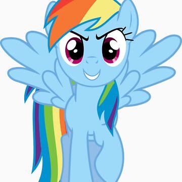 Menacing Rainbow Dash by vs49688