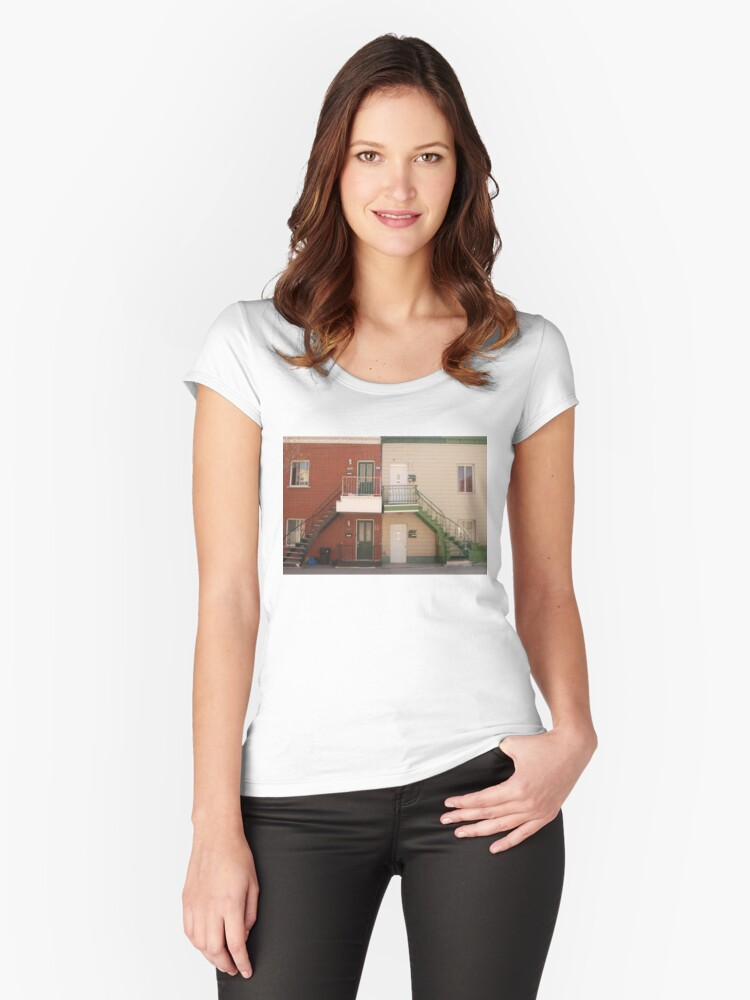 a dream place Women's Fitted Scoop T-Shirt Front