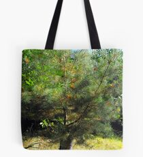 Coniferous catching deciduous Tote Bag