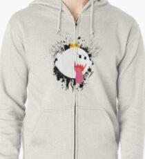 King Boo Splattery Design Zipped Hoodie