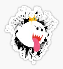King Boo Splattery Design Sticker