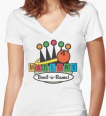 Bowling Women's Fitted V-Neck T-Shirt