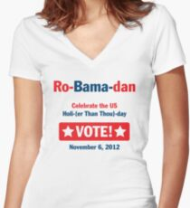 Ro-Bama-dan Holi (Than Thou) day Women's Fitted V-Neck T-Shirt