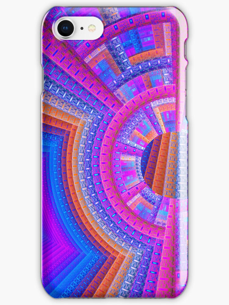 Harmony, artistic abstract iPhone case by walstraasart