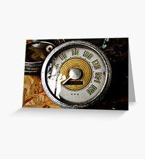 Vintage automobile speed gauge Greeting Card