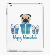 Happy Hanukkah Pug  iPad Case/Skin