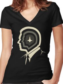 DREAM WITHIN A DREAM Women's Fitted V-Neck T-Shirt