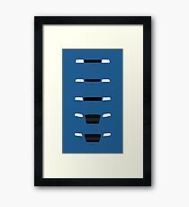 German Sedans (B8, B7, B6, B5, 4C) simple front end design Framed Print