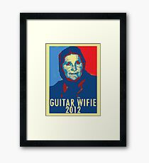 Guitar Wifie for President 2012 Framed Print
